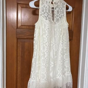 Xhilaration cream midi dress lace
